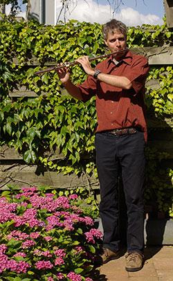 Muziekleraar dwarsfluit Lucas Coltof